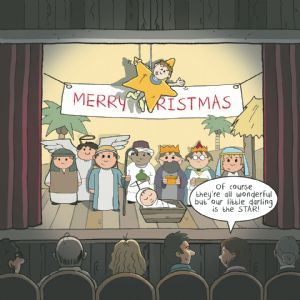 CANX43 – Humour Christmas Card Nativity Star